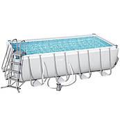 Каркасный прямоугольный бассейн Bestway 56670 (488х244х122) с картриджным фильтром в комплекте