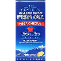 Рыбий жир в капсулах, 21st Century Health, 90 капсул, скидка
