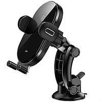 Автомобильный держатель для смартфона USAMS Automatic Coil Induction Holder Center Console 15W Black