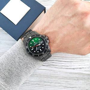 Наручний чоловічий годинник Rolex Submariner/Кварцевий годинник/Годинник класу ААА / Сталевий ремінець