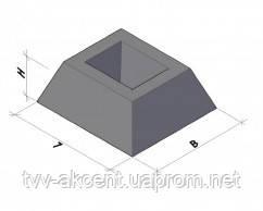 Фундамент панели ограждения 1200 x 400 x 450  ОФИ стакан