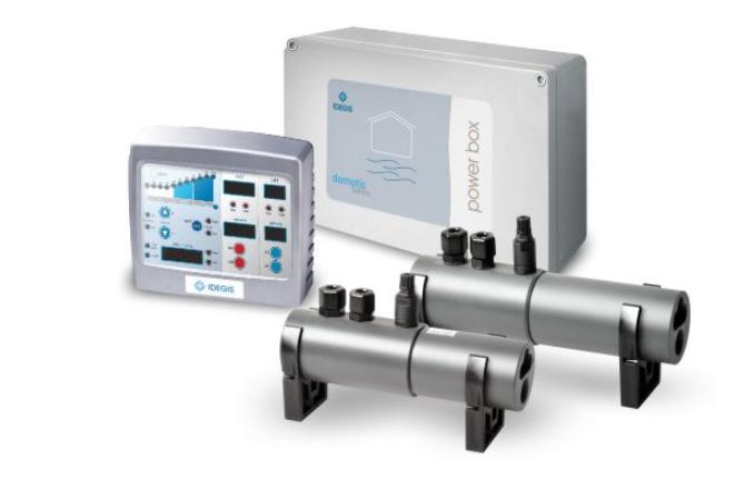 Соляной хлоратор SPA-3 IDEGIS для дезинфекции воды в SPA бассейнах.