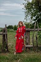 Льняное платье-вышиванка, арт. 4531