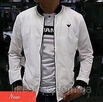 Чоловіча демісезонна куртка , вітрівка з плащової тканини білий, 50-52