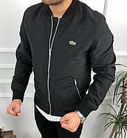 Чоловіча демісезонна куртка , вітрівка з плащової тканини чорний, 50-52