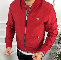 Чоловіча демісезонна куртка , вітрівка з плащової тканини червоний, 48-50,50-52