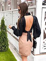 Соблазнительная и элегантная блуза Чёрный, фото 1