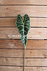 Искусственный лист алоказии, 58 см