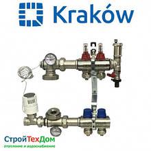 Коллектор для теплого пола KRAKOW на 2 контура (ПОЛЬША)