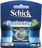 Картриджы для бритья SCHICK Protector 3 (4 шт)Германия