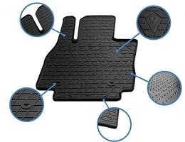 Передние автомобильные резиновые коврики Hyundai Santa Fe II (CM) (2010-2012) (design 2016)  (1009352)