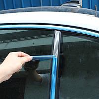 Молдинг, лента для авто самоклеющаяся, THE PANOPLIED OF CAR ХРОМ 15м х 15мм