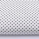 Лоскут ткани с чёрным горошком 3 мм на белом фоне № 2555а, размер 45*80 см, фото 2