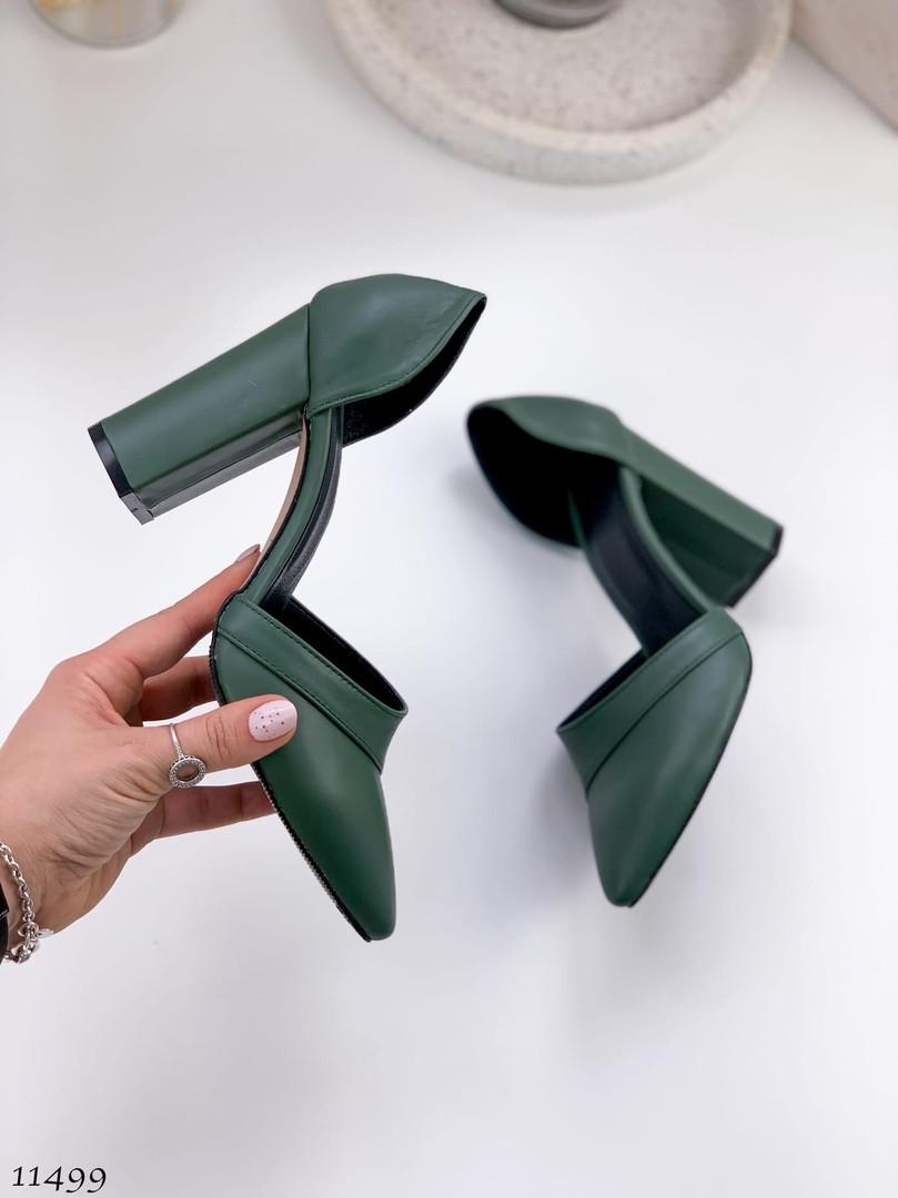 Жіночі туфлі зеленого кольору