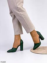 Жіночі туфлі зеленого кольору, фото 2