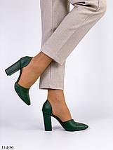 Жіночі туфлі зеленого кольору, фото 3