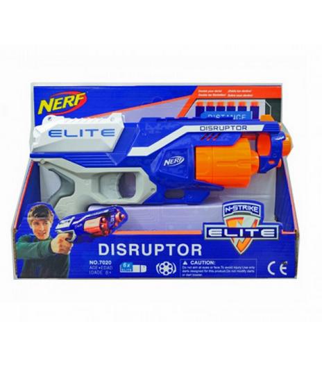 Детский пистолет игровой.Игрушка пистолет стреляющий поролоновыми пулями на присосках