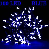 Світлодіодна гірлянда X-MAS 100 Led Blue Drop чорний провід