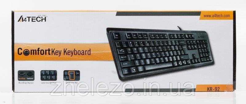 Клавиатура A4Tech KR-92 Black USB