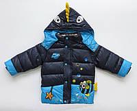 """Зимняя куртка """"Рыбка"""" для мальчика. 90 см"""