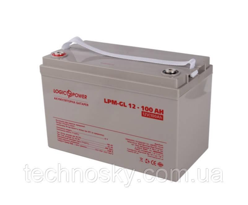 Гелевая аккумуляторная батарея LogicPower LPM-GL 12-100AH