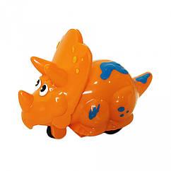 Заводная игрушка Динозавр 9829 9 см (Оранжевая)