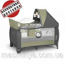 Манеж - кровать Lionelo Sven Plus на колесах и пеленатором