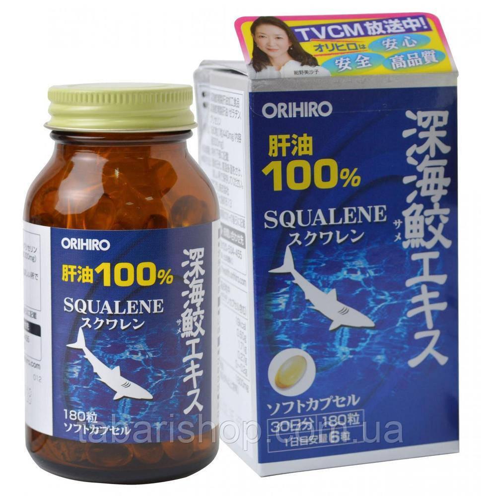 Сквален Orihiro Японський Акулячий, 180 капсул
