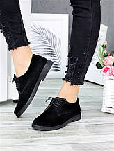 Жіночі туфлі натуральна замша чорні 6364-28