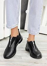 Жіночі туфлі чорна шкіра Ніккі 6965-28