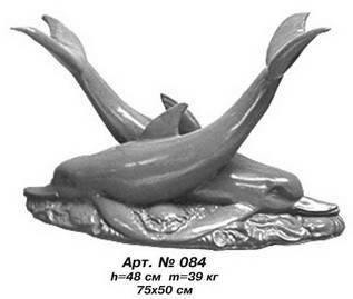 Фігури тварин «Дельфіни» Н=50 см