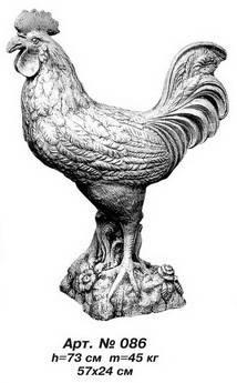 Фігури тварин «Півень» Н=73 см