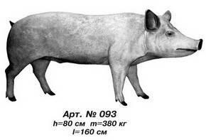 Фігури тварин «Свиня» L=160 см Н=80 см