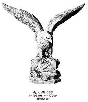 Фігури тварин «Орел» великий 45х52 см, Н=105 см