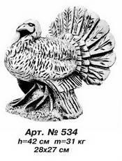 Фігури тварин «Індик» 28х27 см, Н=42 см