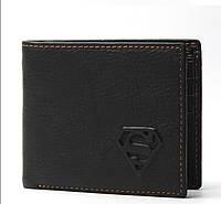 Мужской кожаный кошелек Superman.Модель 04200