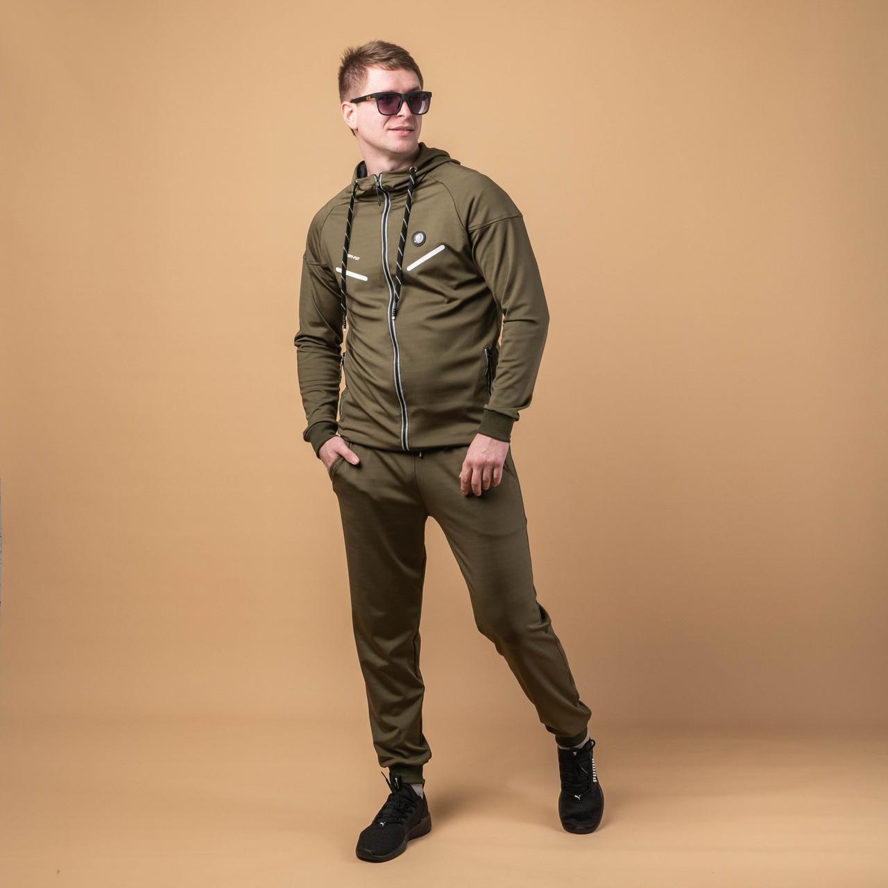 Мужские спортивный костюмы стильный   M-XXXL  хаки