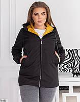 Демисезонная женская курточка с капюшоном, застегивается на молнию с 48 по 58 размер, фото 2