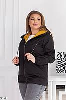 Демисезонная женская курточка с капюшоном, застегивается на молнию с 48 по 58 размер, фото 5