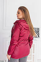Демисезонная женская курточка с капюшоном, застегивается на молнию с 48 по 58 размер, фото 7