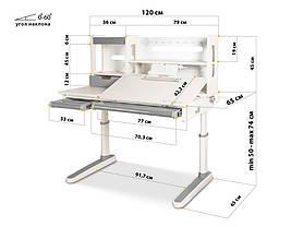 Mealux Oxford Lite | Зростаючий стіл для школяра, фото 3