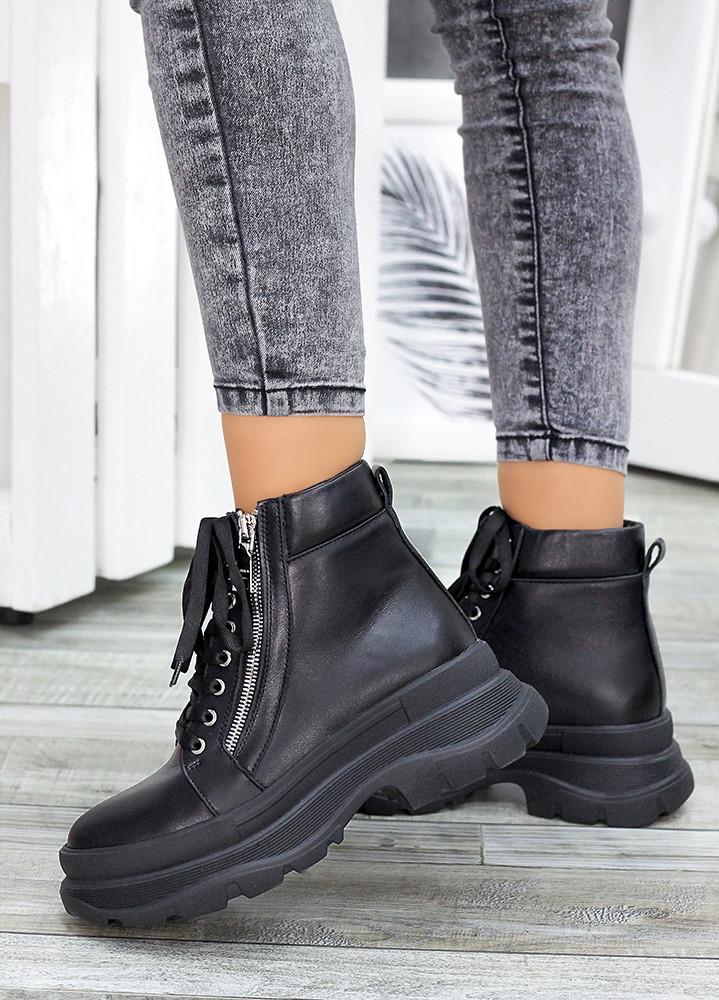 Жіночі зимові черевики з натуральної шкіри