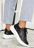 Шкіряні чорні кросівки 7603-28, фото 2
