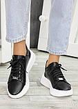 Шкіряні чорні кросівки 7603-28, фото 3
