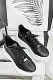 Шкіряні чорні кросівки 7603-28, фото 4