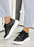 Шкіряні чорні кросівки 7603-28, фото 5