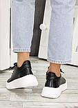 Шкіряні чорні кросівки 7603-28, фото 6
