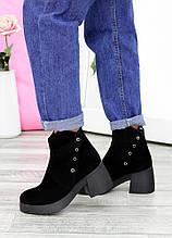 Ботинки черный нубук 7615-28