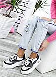Кроссовки женские кожаные на высокой подошве 7618-28, фото 3