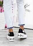 Кроссовки женские кожаные на высокой подошве 7618-28, фото 7
